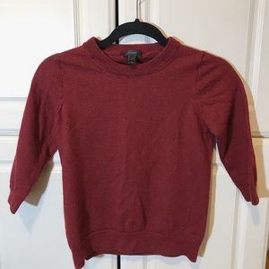 J. Crew Wine Sweater